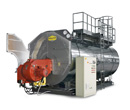 Firetube superheated water boilers